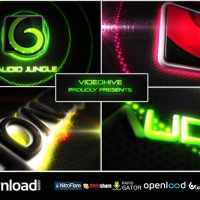 NEON VEGAS LIGHTS LOGO REVEAL VIDEOHIVE TEMPLATE FREE DOWNLOAD