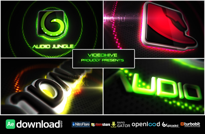Neon Vegas Lights Logo Reveal free download (videohive template)