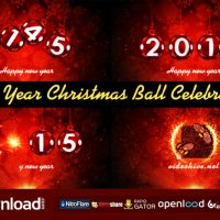 NEW YEAR CHRISTMAS BALL CELEBRATION VIDEOHIVE FREE TEMPLATE