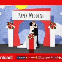 PAPER WEDDING OPENING VIDEOHIVE TEMPLATE FREE DOWNLOAD