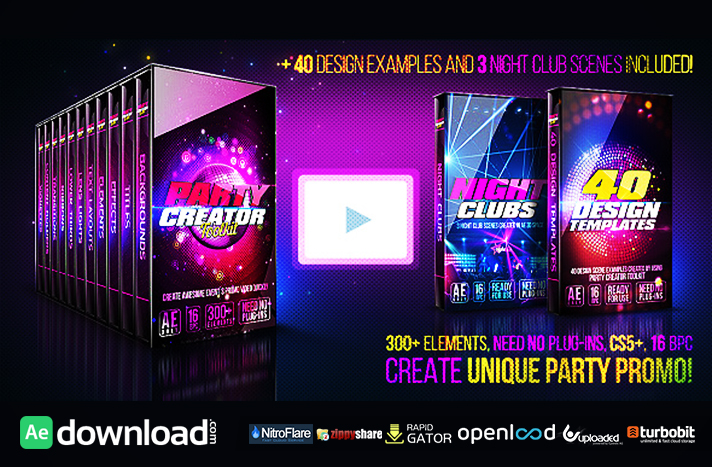 Party Creator Toolkit free download (videohive template)
