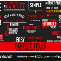 PERFECT TITLES (VIDEOHIVE PROJECT) FREE DOWNLOAD