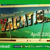 POSTCARD VACATION VIDEOHIVE TEMPLATE FREE DOWNLOAD