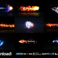 QUICK LOGO STING PACK 07  ENERGETIC PARTICLES (VIDEOHIVE PROJECT) FREE DOWNLOAD