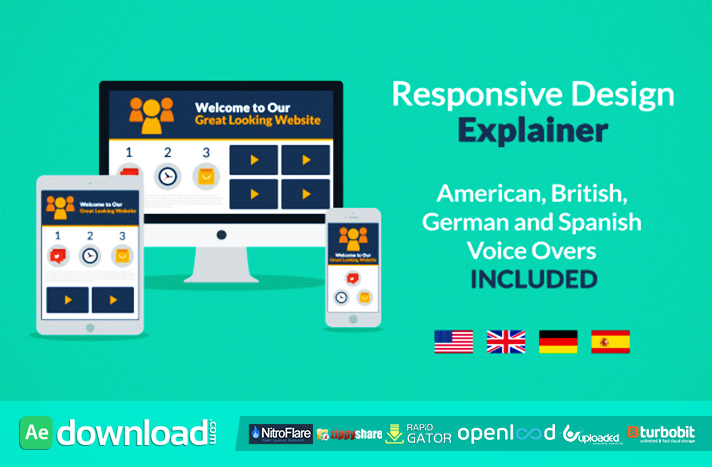 RESPONSIVE DESIGN EXPLAINER FREE DOWNLOAD - VIDEOHIVE ...