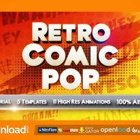RETRO COMIC POP VIDEOHIVE TEMPLATE FREE DOWNLOAD