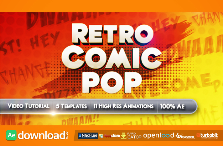Retro Comic Pop Videohive Template Free Download Free