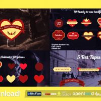 VALENTINE'S DAY BADGES PACKAGE DOWNLOAD| VIDEOHIVE TEMPLATE