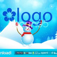 SNOWMAN BRINGS LOGO POND5