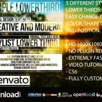 SIMPLE LOWER THIRDS (VIDEOHIVE PROJECT) FREE DOWNLOAD