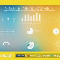 SIMPLE AND MODERN INFOGRAPHICS VIDEOHIVE FREE TEMPLATE