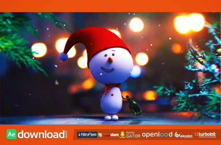 Snowman Intro Free Download Videohive Template Free