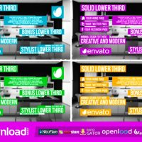 SOLID LOWER THIRD VIDEOHIVE TEMPLATE FREE DOWNLOAD