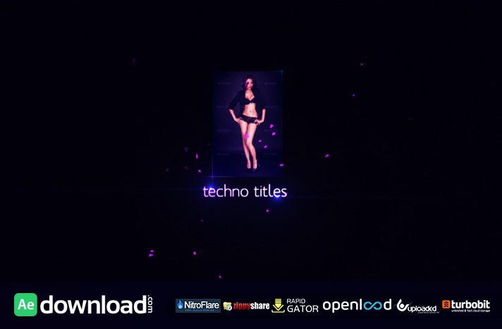 Techno Titles free download (videohive template)