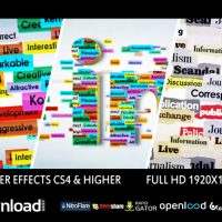 TEXT LOGO FORMATION (VIDEOHIVE PROJECT) FREE DOWNLOAD