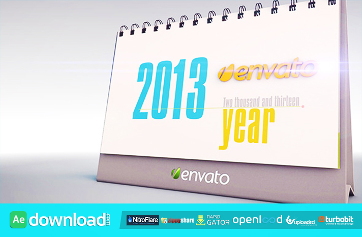 THE DESK CALENDAR FREE DOWNLOAD VIDEOHIVE PROJECT - Free After