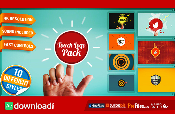 Touch Logo Pack - Flat Interactive Media Reveals