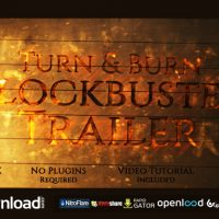 TURN AND BURN BLOCKBUSTER TRAILER (VIDEOHIVE PROJECT) FREE DOWNLOAD