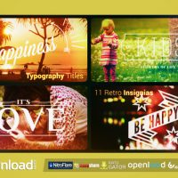 TYPOGRAPHY TITLES | 11 RETRO INSIGNIAS VIDEOHIVE PROJECT – FREE DOWNLOAD