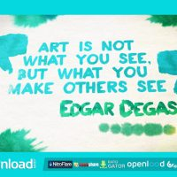 WATERCOLOR QUOTES AND ANIMATED FONT FREE DOWNLOAD – VIDEOHIVE PROJECT