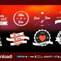 WEDDING ROMANTIC TITLES PACK – FREE VIDEOHIVE TEMPLATE