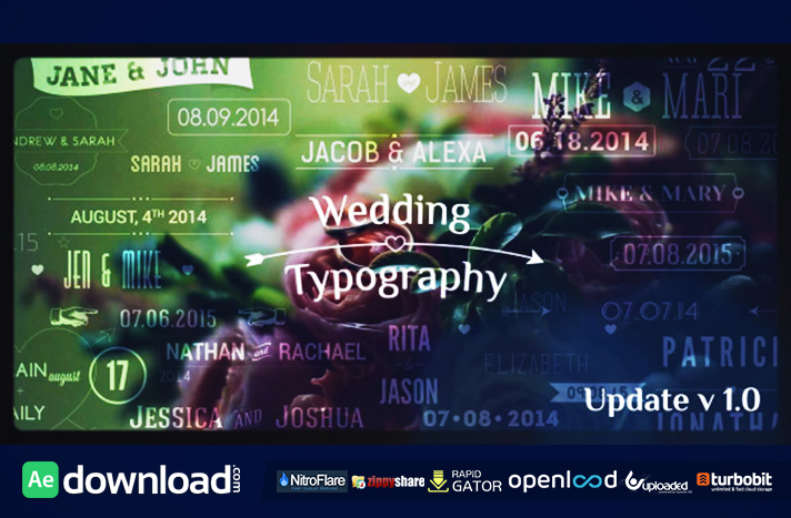 Wedding Typography Titles – Dates and Names