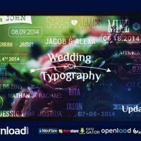 WEDDING TYPOGRAPHY TITLES – DATES AND NAMES VIDEOHIVE FREE TEMPLATE