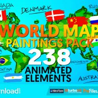 WORLD MAP PAINTINGS PACK (VIDEOHIVE PROJECT) FREE DOWNLOAD