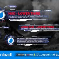 HUD – LOWER THIRDS (VIDEOHIVE PROJECT) FREE DOWNLOAD
