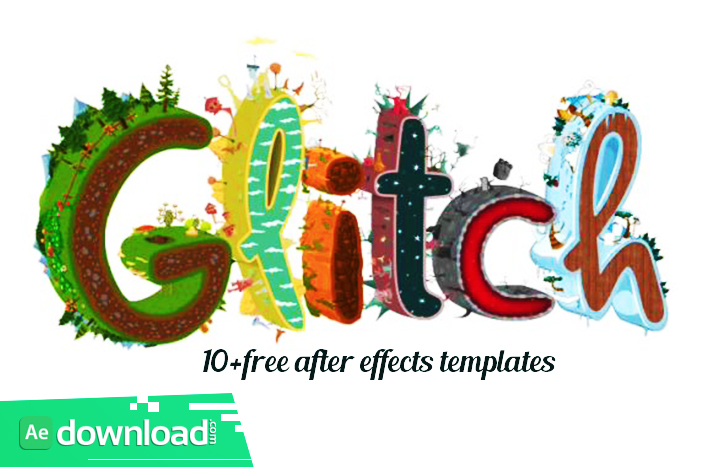 GLITCH LOGO REVEALS FREE AFTER EFFECTS TEMPLATES Free After - Free ae logo templates