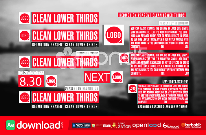11 CLEAN LOWER THIRDS FREE DOWNLOAD TEMPLATE (POND5)