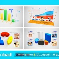 3D CHARTS – FREE AFTER EFFECTS PROJECT (VIDEOHIVE)