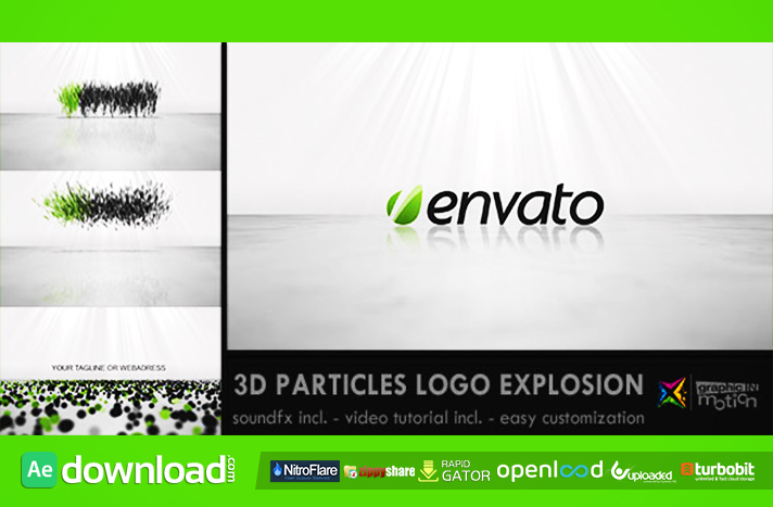 3D PARTICLES LOGO EXPLOSION - FREE DOWNLOAD AFTER EFFECTS PROJECT