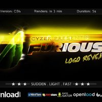 FURIOUS LOGO – FAST POWERFUL SIMPLE REVEAL – AFTER EFFECTS PROJECT (VIDEOHIVE)