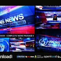BROADCAST DESIGN – COMPLETE NEWS PACKAGE 5 – FREE AFTER EFFECTS PROJECT (VIDEOHIVE)