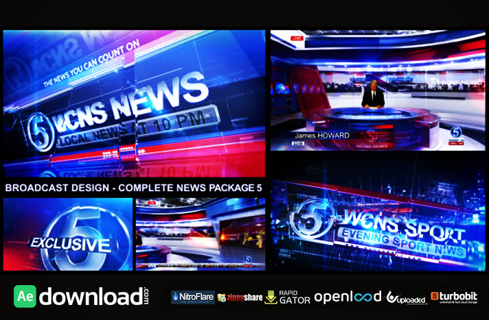 BROADCAST DESIGN - COMPLETE NEWS PACKAGE 5 - FREE AFTER