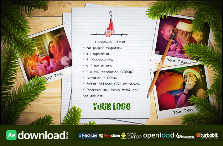 CHRISTMAS LETTER FREE DOWNLOAD POND5 TEMPLATE