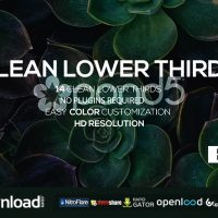 CLEAN LOWER THIRDS – FREE AFTER EFFECTS TEMPLATE (POND5)