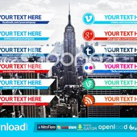 CLEAN SOCIAL MEDIA LOWER THIRDS PACK FREE DOWNLOAD VIDEOHIVE TEMPLATE