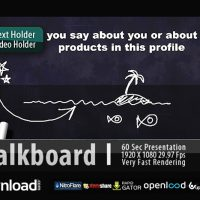 CHALKBOARD PROFILE – FREE DOWNLOAD AFTER EFFECTS PROJECT (VIDEOHIVE)