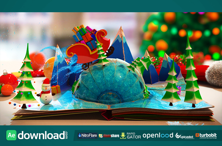 christmas pop up book after effects project videohive free