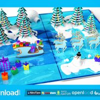 CHRISTMAS POP-UP CARD (VIDEOHIVE) TEMPLATE – FREE AFTER EFFECTS PROJECT
