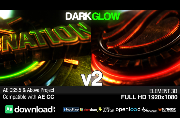 DARK GLOW LOGO REVEAL V2 - FREE DOWNLOAD AFTER EFFECTS PROJECT