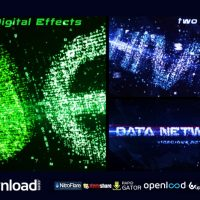 DATA NETWORKS INTRO VIDEOHIVE TEMPLATE AFTER EFFECTS PROJECT