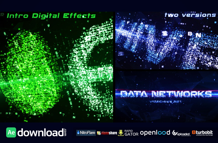 Data Networks Intro free download (videohive template)