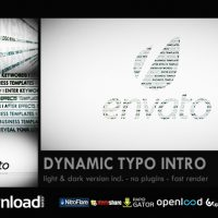 DYNAMIC TYPO INTRO FREE DOWNLOAD VIDEOHIVE TEMPLATE