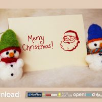 FELT CHRISTMAS & NEW YEAR GREETIGNS – FREE AFTER EFFECTS TEMPLATE