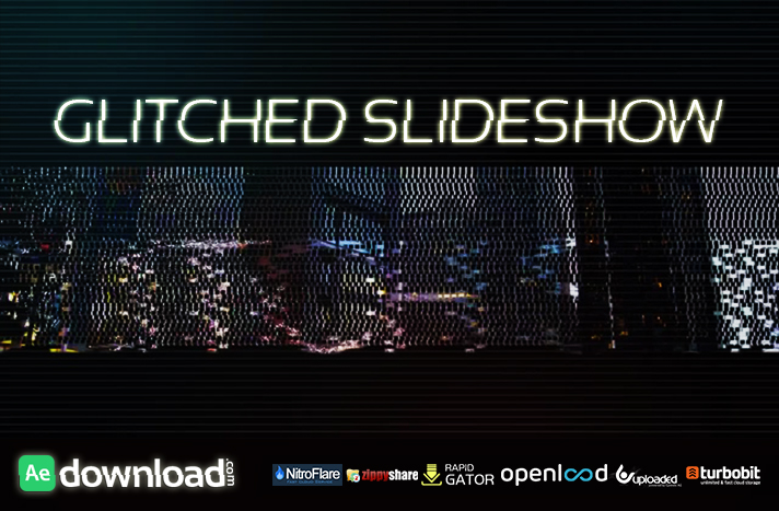 GLITCHED SLIDESHOW motion array free download template