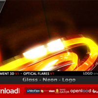 GLASS NEON LOGO – AFTER EFFECTS PROJECT (VIDEOHIVE) FREE TEMPLATE