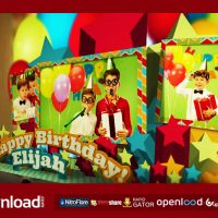 HAPPY BIRTHDAY POP UP BOOK – AFTER EFFECTS TEMPLATE (FLUXVFX)